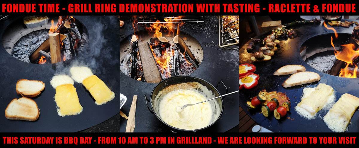 Grill Ring Demonstration & Tasting - This Saturday @ Grillland - It's Fondue time!